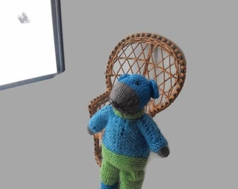 Knitted Mouse Cute Toy Stuffed Animal Super Soft Mouse Amigurumi Toy Crochet Toy Kids Toy Plush Knit Toy Kids Gift Cute Gift Child Toy