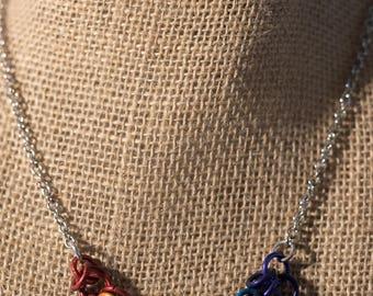 Rainbow Shaggy Loop Necklace