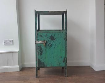 Industrial Cabinet For Contemporary Living A Piece Of Refurbished Metal Furniture