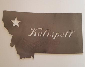 Kalispell Montana Metal Wall Decor. Great Christmas or Birthday Gift!. Ready to Ship!