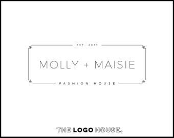 Dainty Photography Logo, Classy Logo Design, Chic Logo Design, Hair Stylist Logo, Beauty Salon Logo, Makeup Artist Logo, Thin Modern Logo