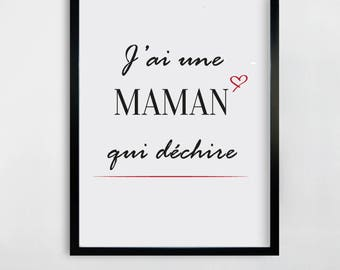 I have a MOM who rocks - table MOM - mother's day - mother's day gift