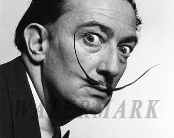 Salvador Dali,  Salvador Dali photograph, Dali black and white photo print, boho vintage, Wall Art - Decor - 8x10 - 11x14 - 16x20 (TS295)