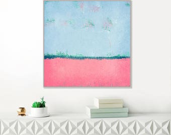 SALE: Modern Art Print, Pink and blue Abstract Art,  Minimal Wall Art, Contemporary Art, Colourful Printable Art, Affordable Art