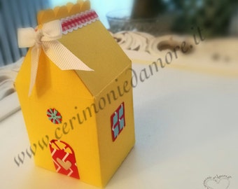 Colored cardboard box or favor box