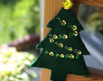 Christmas Tree Felt Ornament, Christmas Ornaments