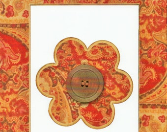 Gold Paisley Cardstock Frame My Mind's Eye This & That Scrapbook  Embellishments Cardmaking Crafts