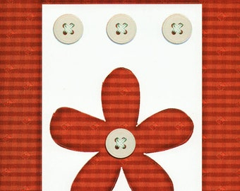 Red Gingham Cardstock Frame My Mind's Eye This & That Scrapbook  Embellishments Cardmaking Crafts