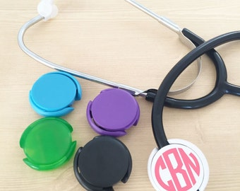 Stethoscope Id Tag - Stethoscope Accessories - Stethoscope Name Tag - Medical Student Gift - Nursing Student Gift - Monogrammed Stethoscope