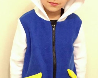 Pokemon Ash Ketchum Cosplay Costume Only Jacket, Pokemon Fleece Jacket, Toddler Pokemon Jacket, Ash Ketchum Hoodie Jacket