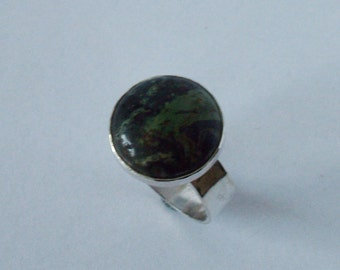Silver ring with Kambaba Jasper