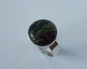 Silver ring with Kambaba Jasper