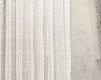 cream linen curtain etsy