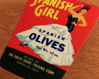 10 Spanish Girl - Spanish Olives Jar Labels - South Shore Packing Corp.