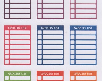 Grocery List | 829 | Planner Sticker | Kikki-K | Happy Planner | Erin Condren
