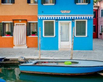 Burano, Italy Photography, Burano Print, Italy Wall Art, Fine Art Photo, Italy Wall Art, Colourful Wall Art, Colorful Italy, Italy Print