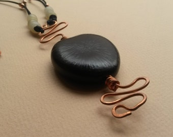 Coconut seed necklace