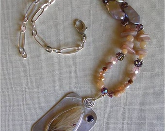 Rock garden necklace