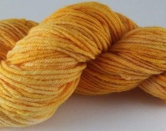 Goldrush  - 100% Superwash Merino Wool SW Hand Dyed Worsted Weight Yarn