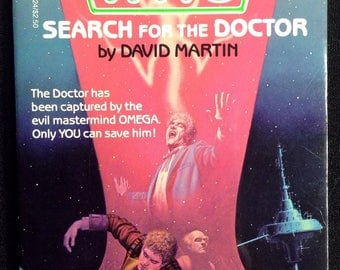 """Doctor Who 1986 Book, """"Search for the Doctor"""", #1 Find Your Fate Series Doctor Who Book, 80s Doctor Who Book Memorabilia, Dr. Who K-9 Book"""