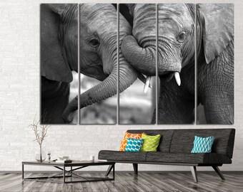 Elephant Panel Art Elephant Canvas Print Elephant Wall Decor Elephant Wall Art Elephant Canvas Art Elephant Home Decor Elephant Canvas Set