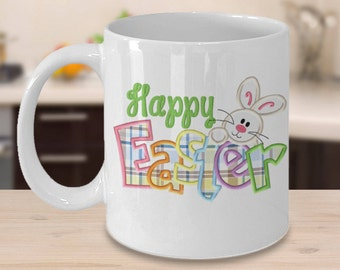 Happy Easter Mug - Ceramic White Coffee, Tea Cup, Perfect Gift For Easter Holiday for Your Kids
