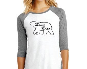 Mama Bear Raglan Sleeve