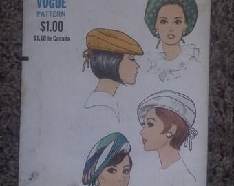 Vintage Vogue Hat Pattern 7462 uncut