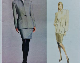 Vintage Calvin Klein Vogue sewing pattern 2002 - Misses' petite jacket and skirt