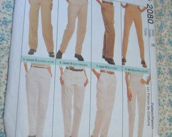 McCalls 2080 Misses Perfect Pants Sewing Pattern UNCUT Size 8