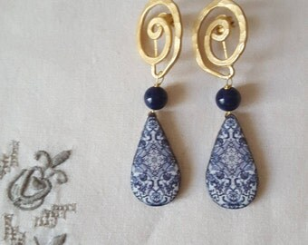 Handmade pottery earrings