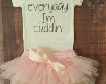 Baby Girl Clothes, Everyday I'm cuddlin Bodysuit