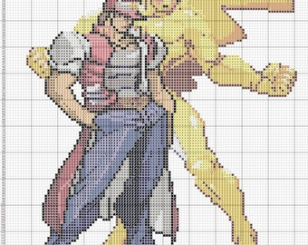 JoJo and Pikachu Cross Stitch Pattern