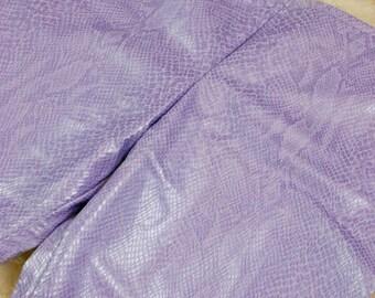 Python Print Pants, Purple Snakeskin Hip Huggers, Flared Snake Skin Print Pants, Size: 30x31, 6 (US), 10 (UK)