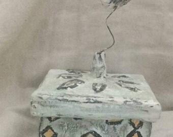 jewellery  box recycled pretty eco friendly vintage style folk art chabbychic