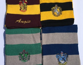 Harry Potter, Harry Potter Scarf, Wizard Scarf, Harry Potter Costume, Harry Potter Party Favor, Harry Potter Birthday Favors, Wizard Party