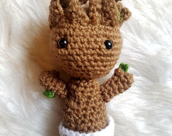Crochet Baby Groot || Guardians of the Galaxy, Plush Toy, Groot Doll, Crochet Toy, Baby Gift, Baby Toy, Toddler Toy, Crochet Amigurumi