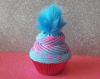 Trolls Hair Fake Cupcake, Birthday Party Decorations, Picture Sessions, Party Favors, Cupcake Decor