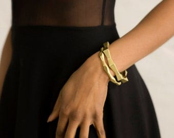 Totto // recycled bronze modern architectural bangle