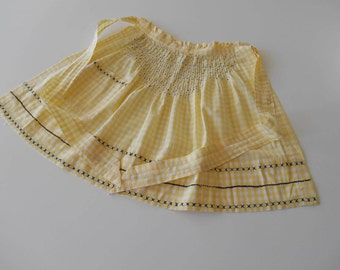 Smocked Retro Apron from the Fifties