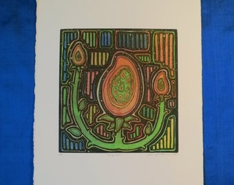 Mango Mola, Artist Proof, Color Intaglio, chine colle, Signed