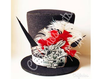White Rabbit Costume  Alice in Wonderland Hat Disney Party Top Hat