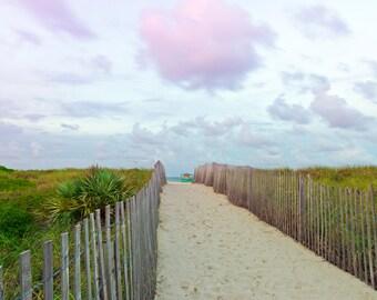 South Beach Miami, path to beach