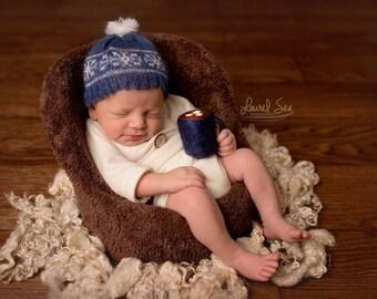 Felted Hot Cocoa Mug Newborn Prop