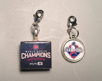Chicago Cubs Championship Zipper Pull, 2 choices