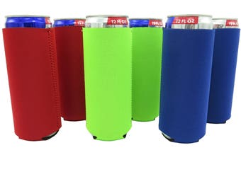 Ultra Slim Can Sleeves-Set of 6 (Classic) Can Neoprene Coolers