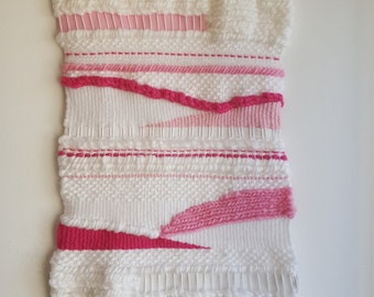 woven wall hanging pink
