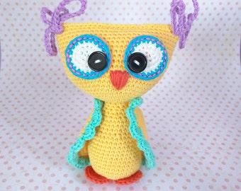 Colorful crochet OWL / Owl amigurumi