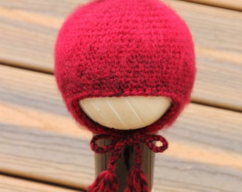 Crochet Newborn Apple Hat