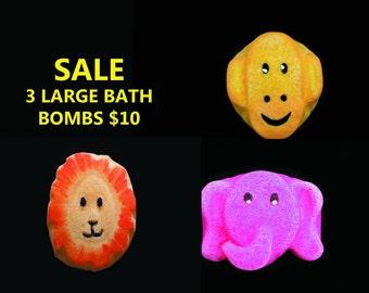3 LARGE BATH BOMBS, bathbomb, bath bomb, gift set, set of bath bombs, bath bomb set, kids bath bomb, fizzie set, set of fizzies, kids, boy